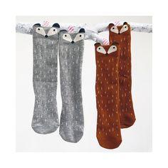 Paire de chaussettes renards et ratons laveurs