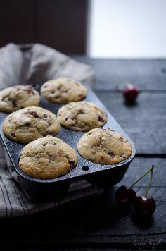 Cherry Vanilla Muffins via Savory Simple