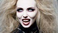 """Vampires have made a huge comeback since the huge success of the """"Twilight"""" movie. Vampires have always been a great classic choice when it comes to Halloween costumes. Here are some makeup tips to help your vampire look be complete. Steampunk Wedding Hair, Steampunk Makeup, Steampunk Halloween, Vampire Makeup Looks, Vampire Look, Female Vampire, Vampire Girls, Scream Halloween, Halloween Vampire"""