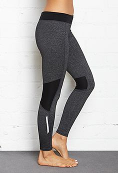 Contrast Panel Performance Leggings | FOREVER21 - 2000062511