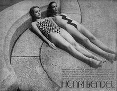 Swim Suits  New York Times Advertisement  Henri Bendel