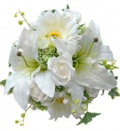 Bridesmaids White and Ivory Natural Feel Wedding Bouquet