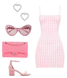 A fashion look from October 2017 featuring pink dress, Steve Madden and man bag. Browse and shop related looks. Clueless Outfits, Kpop Fashion Outfits, Stylish Outfits, Girl Outfits, Cute Outfits, Classy Teen Fashion, Casual Date, Classy Dress, Korean Fashion