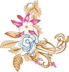 Vector Flowers, Botanical Flowers, Motif Design, Textile Design, Gulab Flower, Flower Art Images, Boarder Designs, Paisley Art, Line Flower
