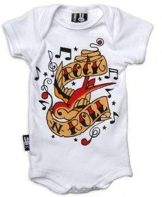 Six Bunnies Baby Onesie White Rock N Roll Romper Rockabilly Punk Tattoo 6 Punk Rock Baby, Rock N Roll Baby, Rockabilly Baby, Rockabilly Shop, Pinup, Robes Pin Up, Punk Tattoo, Tattoos, Baby Kids