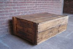 Crate Coffee Table on Casters Reclaimed Coffee by FurnitureFarm, $395.00