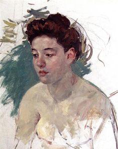 Bosquejo de Antonieta (N ° 1), 1901 - Mary Cassatt