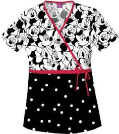 I pinned this because I like Disney a lot and I like the black and white design with the pop of pink, it would be a good shirt for a pediatric nurse.