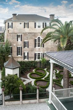 An antebellum garden with pathways to the past