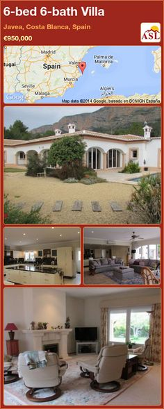 Villa for Sale in Javea, Costa Blanca, Spain with 6 bedrooms, 6 bathrooms - A Spanish Life Rainforest Shower, Underfloor Heating, Heating And Air Conditioning, Double Bedroom, Kitchen Art, Malaga, Costa, Entrance, Family Room