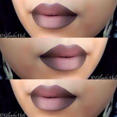 Faded Brown Ombre Lips