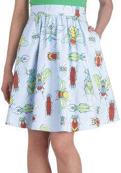 Woodland Feature Skirt, #ModCloth ( be cute to wear to tutor with a solid shirt)