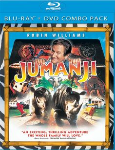 Jumanji - Blu-Ray/DVD Combo - Roll the dice and unleash the excitement!Robin Williams (License to Wed), Kirsten Dunst (How To Lose Friends & Alienate People) and Bonnie Hunt (Cheaper By the Dozen) star in this phenomenal adaptation of the award-winning children's book.Are you game? Go for it in this awesome Blu-ray with crystal clear sound and picture!When young Alan Parrish discovers a mysterious board game, he doesn't realize its unimaginable powers, until he is magically transported…