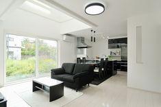 白黒使いがオシャレなシンプルハウス - 施工例ギャラリー | 新築住宅をお考えの方 | むつみワールド