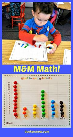 Make learning math concepts lots of fun for your preschoolers with M&M math. FREE M&M candy graph printable for you to print! Pre K Games, Math Games For Kids, Kids Math, Kindergarten Activities, Teaching Math, Preschool Activities, Preschool Classroom, Educational Activities, 4 Year Old Activities