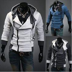 Классная мужская Толстовка-худи Assassin's Creed! Серая М - Основная одежда во Владивостоке