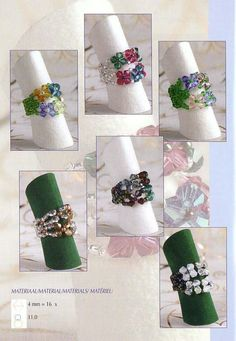 Same pattern, different colours/types of beads used