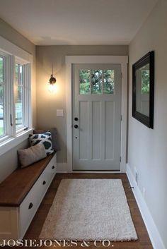 %josiejones_&_companye% JosieJones is a simple design site including DIY proj Hallway Inspiration, Hallway Decorating, Decorating Ideas, House Front, Mudroom, Entrance, New Homes, Interior Design, House Styles