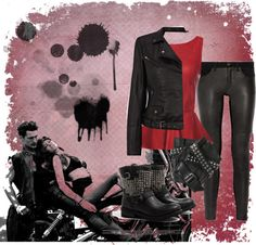 """Leather"" by danigregg on Polyvore"