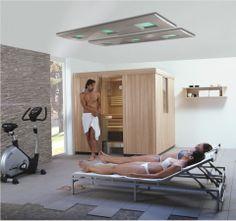 Geniet thuis van wellness in je eigen badkamer – hamams Sauna, Wellness, Loft, Bed, Furniture, Home Decor, Model, Houses, Terrace