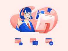 Hello there! designed by Fauzy Lukman for Gojek Design. Connect with them on Dribbble; Flat Design Illustration, People Illustration, Business Illustration, Character Illustration, Digital Illustration, Magazine Illustration, Character Sketches, Art Illustrations, Vector Design
