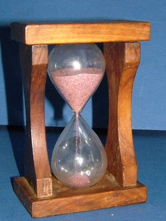 1950s Vintage Glass and Sand Egg Timer in Wooden by BiminiCricket, $45.00