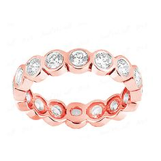 Diamantring / Diamantarmband / Diamantschmuck: Diamantring Memoire 1.50 Karat aus 585er Roségold