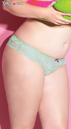 Plus Size Magical Mint Thong