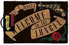 Fibra di Cocco zerbino Nero 60/x 40/x 1.5/cm GIUCAR Guns N Roses Knocking on Heaven