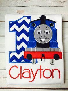 Thomas the Train Birthday Shirt / Personalized / 1-9 / Boys / Girls by SWDdesigns on Etsy https://www.etsy.com/listing/245392570/thomas-the-train-birthday-shirt