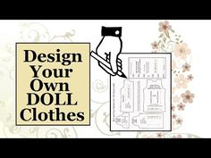 Design your own doll clothes for Barbie, Ken, Lammily, and other fashion dolls with this step-by-step tutorial which is FREE from ChellyWood.com