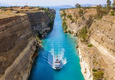 Looking for the most beautiful places in Greece? Here are our top picks - and the picks of travel experts - to help you find the best places to visit in Greece. Corinth Canal, Corinth Greece, Olympia, Temple Ruins, Places In Greece, Seaside Resort, Greece Travel, Greece Trip, Visit Greece