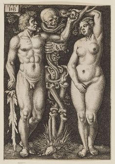 blackpaint20:  Adam and Eve by Hans Sebald Beham and Barthel Beham, 1543.