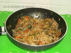 Cinco sentidos na cozinha: Legumes variados salteados no wok com molho de soja