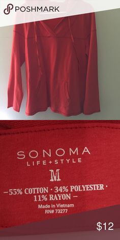 Hoodie Red/Orange / size: m / great condition / hoodie Sonoma Sweaters
