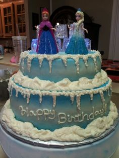 Frozen Cake - Anna and Elsa
