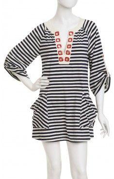 Stripe Tunic Cover-up. Nanette Lepore.