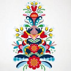 Kurbits pattern (would be an awesome tattoo)