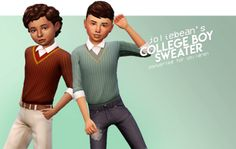 The Sims 4 cowversions: College Boy sweater Sims 4 Toddler Clothes, Sims 4 Cc Kids Clothing, Sims 4 Mods Clothes, Girl Clothing, Toddler Dress, Toddler Girls, Baby Girls, Sims Four, Sims 4 Mm Cc