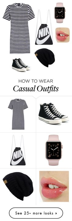 """""""Casual"""" by kaykay1808 on Polyvore featuring T By Alexander Wang, Converse and NIKE"""