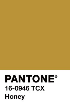 Pantone color honey