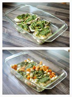 Experimente aus meiner Küche: Pestohähnchen mit Gemüsecouscous