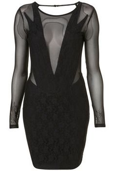 Lace Bodycon Dress by Dress Up Topshop