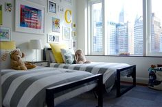 Urban City Kids Room... if we have 2 boys... they will share a room and have a play room. I decided :)
