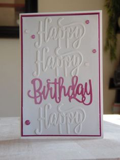 Birthday Quotes QUOTATION – Image : As the quote says – Description Stampin Up Karte zum Geburtstag, Happy Birthday Framelits, www. Simple Birthday Cards, Homemade Birthday Cards, Birthday Cards For Women, Card Birthday, Diy Birthday, Birthday Quotes, Birthday Ideas, Happy Birthday Gorgeous, Karten Diy