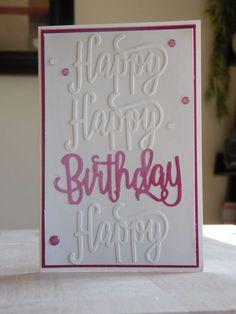 Stampin Up Karte zum Geburtstag, Happy Birthday Framelits, www.ilonasstempelhaus.de
