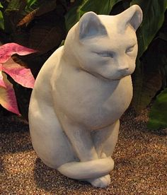 Our Cat Sculptures Appears To Be Have Very Good Manner And Is Shown Here In  A