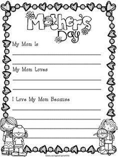 Happy Mother's Day! This is a Mother's Day writing activity. Just download, print, and copy this adorable Mother's Day resource to use with your students.