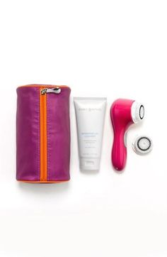Clean skin, colorful Clarisonic.  I have the light pink.  LOVE it!