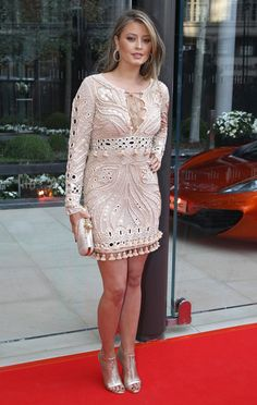 Model Holly Valance wore a£4,335 Pucci crochet dress according to MyFashionLife
